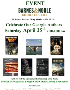 Barnes and Noble - Author event 4-25-2015