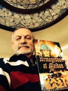 Photo of Baziv with the book