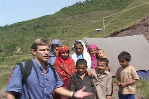 Filming in Kashmir