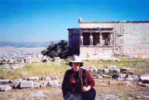 Greece--MJP on Acropolis