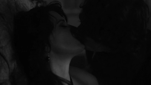 Fig 43 - Lucy Lawless kissing her son, Joe Doyle