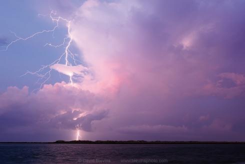 Lightning Strikes Masonboro Island