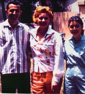 Jerry, Lucille Ball, and Marilynn at a Desilu Picnic 1956