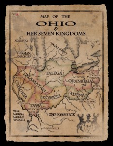 Map by Bryan G. McWhirter on the back of WITCHY WINTER