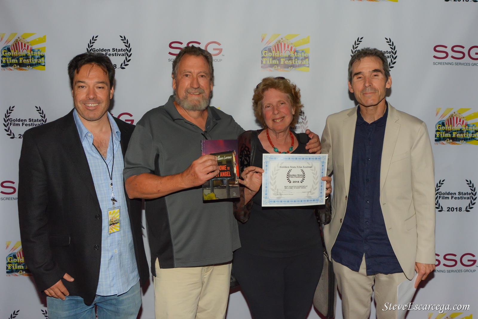 Golden State Film Festival - Receiving award